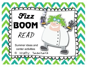 Fizz Boom Read- Incentive Bookmarks and Sight words for summer reading!