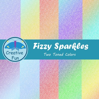 Fizzy Sparkle Digital Paper: Two Toned
