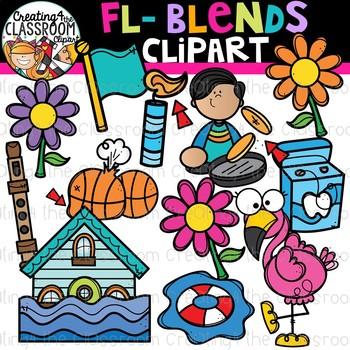 Fl- Blends Clipart {Beginning Blends Clipart}