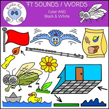 Fl Sounds / Words: Beginning Sounds Clip Art