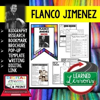 Flaco Jimenez Biography Research, Bookmark Brochure, Pop-Up, Writing
