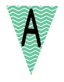 Flag Banners - Chevron Pattern in Green