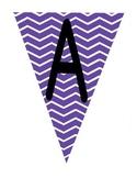 Flag Banners - Chevron Pattern in purple