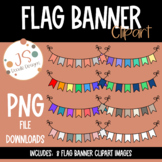 Flag Banners Clipart