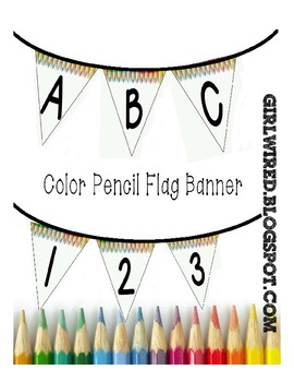Flag Banners - Color Pencils