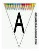 Flag Banners - Color Pencils