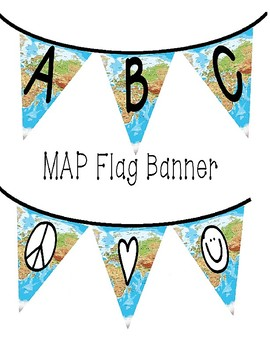Flag Banners - Colorful Europe / Africa Map