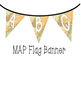 Flag Banners - Europe / Africa Map with white font