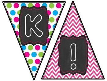 Flag Banners- K-5- Chalk&Neon