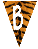 Flag Banners - Tiger Print with white Font