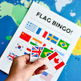 Flag Bingo & Matching Game for Studying Countries Around the World
