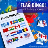 Flag Bingo & Matching Game for Studying Countries Around t