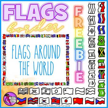 Flag Border Clipart Doodle Style