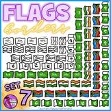 Flag Borders Clipart Doodle Style (Africa, Saudi Arabia, India, Pakistan)