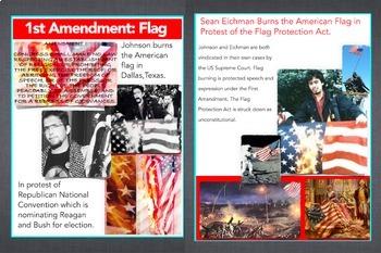 Flag Burning & First Amendment ~ FREE POSTER ~ Johnson & Eichman