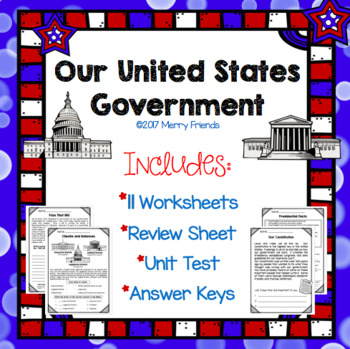 United States Government Social Studies Worksheets Test