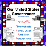 United States Government Social Studies Worksheets Test