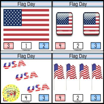 Flag Day Clip Task Cards