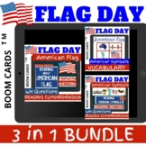 Flag Day 3 in 1 BUNDLE - Boom Cards Distance Learning NO PRINT