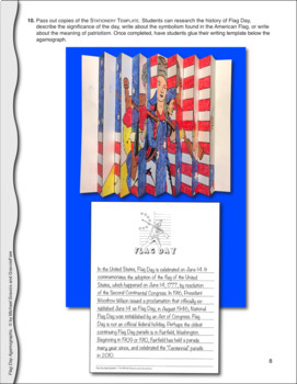 Flag Day Activities and Crafts: Color-by-Number Agamograph with Betsy Ross
