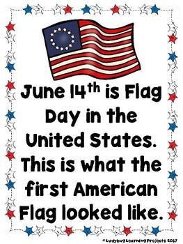 Flag Day  (An Emergent Reader and Teacher Lap Book)
