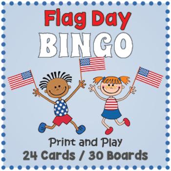 Flag Day Bingo Game