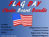 Flag Day CHOICE BOARD BUNDLE Menu No Prep 6 Activity Pages