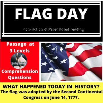 Flag Day Differentiated Reading Passage June 14