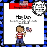 Flag Day Emergent Reader Book AND Interactive Activities