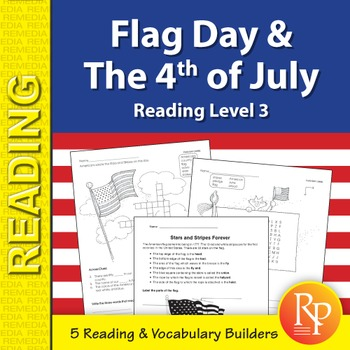 Flag Day & Independence Day - Holiday Skill Builder {Freebie}