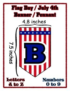 Flag Day July 4th Independence Celebration Banner Chevron - Any Message