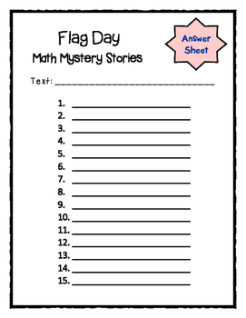 Flag Day Math Mystery Stories (Common Core Aligned!)