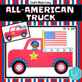 Flag Day Memorial Day Craft - All American Truck Craft