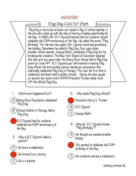 Flag Day Non-Fiction Passages & Printables