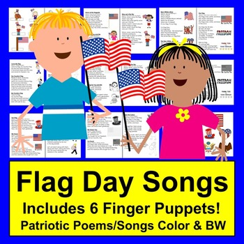 Flag Day Poems, Songs & Finger Puppets!