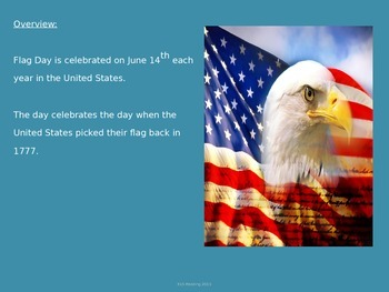 Flag Day - Power Point - Information Pictures History Facts