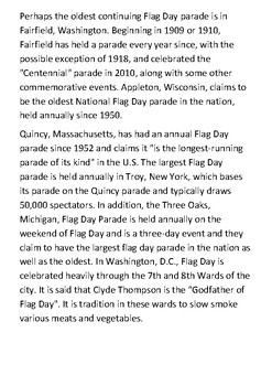 Flag Day (United States) Handout