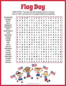 Flag Day Word Search Puzzle