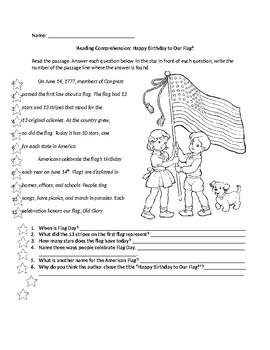 Flag Day Worksheets