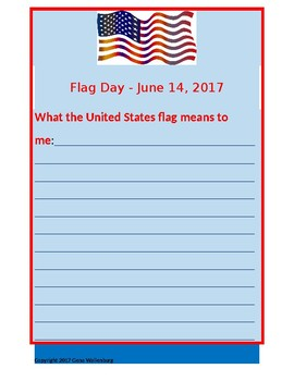 Flag Day Writing Activity