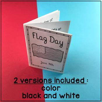 Flag Day MiniBook : Pledge of Allegiance and American Anthem