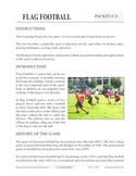 Flag Football: An Academic Learning Packet