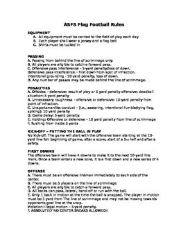 Flag Football Rules