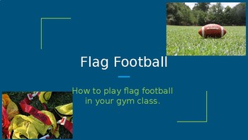 Flag Football Rules and Introduction - Elementary School