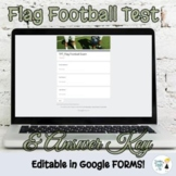 Flag Football Test - Editable in Google FORMS!