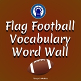 Flag Football Vocabulary Word Wall