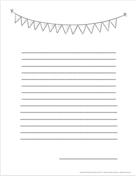 Flag Fun Stationary Writing Pages