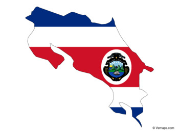 Flag Map of Costa Rica