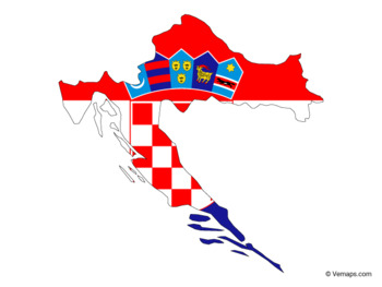 Flag Map of Croatia