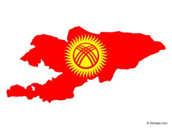 Flag Map of Kyrgyzstan